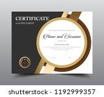 certificate layout template... | Shutterstock .eps vector #1192999357