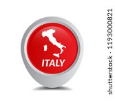 italy map and map pointer   Shutterstock .eps vector #1193000821