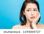 young girl getting a toothache. ... | Shutterstock . vector #1193004727