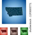 map of montana | Shutterstock .eps vector #1193005771