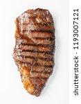 grilled marbled beef steak... | Shutterstock . vector #1193007121