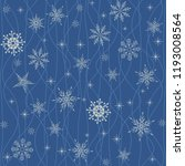 christmas seamless pattern with ... | Shutterstock .eps vector #1193008564