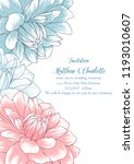 cute wedding invitation with... | Shutterstock .eps vector #1193010607