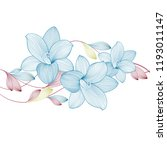 spring background with lily... | Shutterstock .eps vector #1193011147
