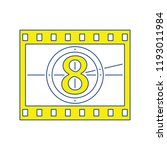 movie frame with countdown icon.... | Shutterstock .eps vector #1193011984
