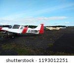 vintage airplanes  scottish... | Shutterstock . vector #1193012251