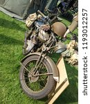 old british military motorcycle ... | Shutterstock . vector #1193012257
