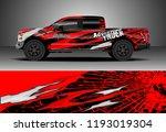 pick up truck wrap design... | Shutterstock .eps vector #1193019304