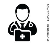 healthcare icon vector male... | Shutterstock .eps vector #1193027401