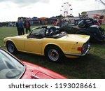 vintage triumph tr6 car show... | Shutterstock . vector #1193028661