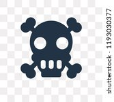 poison vector icon isolated on... | Shutterstock .eps vector #1193030377