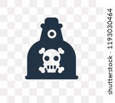 poison vector icon isolated on... | Shutterstock .eps vector #1193030464