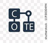 periodic table vector icon... | Shutterstock .eps vector #1193030494
