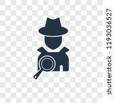 detective vector icon isolated...   Shutterstock .eps vector #1193036527