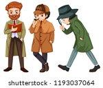 set of detective character... | Shutterstock .eps vector #1193037064