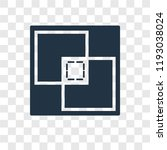 crop vector icon isolated on... | Shutterstock .eps vector #1193038024