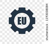 eu vector icon isolated on... | Shutterstock .eps vector #1193038084