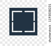 crop vector icon isolated on... | Shutterstock .eps vector #1193038231