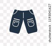 chino shorts vector icon... | Shutterstock .eps vector #1193041627