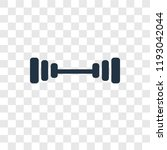 dumbbell vector icon isolated... | Shutterstock .eps vector #1193042044