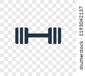 barbell vector icon isolated on ... | Shutterstock .eps vector #1193042137