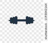 dumbbell vector icon isolated... | Shutterstock .eps vector #1193042164
