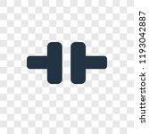 dumbbell vector icon isolated... | Shutterstock .eps vector #1193042887
