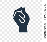 click vector icon isolated on... | Shutterstock .eps vector #1193042947