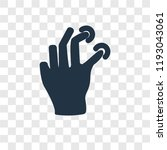 pinch vector icon isolated on... | Shutterstock .eps vector #1193043061