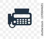 fax vector icon isolated on... | Shutterstock .eps vector #1193044651