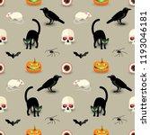traditional halloween seamless... | Shutterstock .eps vector #1193046181