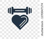 dumbbell vector icon isolated... | Shutterstock .eps vector #1193047174