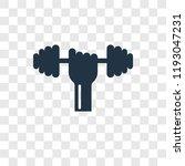 dumbbell vector icon isolated... | Shutterstock .eps vector #1193047231