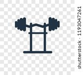dumbbell vector icon isolated... | Shutterstock .eps vector #1193047261