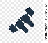 dumbbell vector icon isolated... | Shutterstock .eps vector #1193047264