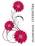 floral pattern with flower... | Shutterstock .eps vector #1193047564