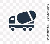 cement truck vector icon... | Shutterstock .eps vector #1193048041