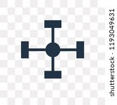 nodes vector icon isolated on... | Shutterstock .eps vector #1193049631