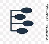 nodes vector icon isolated on... | Shutterstock .eps vector #1193049667