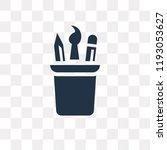 pencil case vector icon... | Shutterstock .eps vector #1193053627