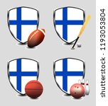 finland shield. sports items | Shutterstock . vector #1193053804