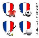france shield. sports items | Shutterstock . vector #1193053807
