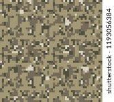 pixel camo background. seamless ... | Shutterstock .eps vector #1193056384
