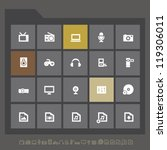 modern multimedia icons for...