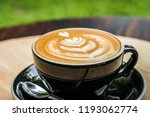 latte art coffee. | Shutterstock . vector #1193062774
