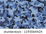 digital pixel camouflage... | Shutterstock .eps vector #1193064424