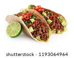mexican tacos with beef ... | Shutterstock . vector #1193064964