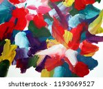abstract picture painted colors.... | Shutterstock . vector #1193069527