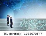 business concept of uncertainty ...   Shutterstock . vector #1193070547