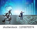 business people in uncertainty...   Shutterstock . vector #1193070574
